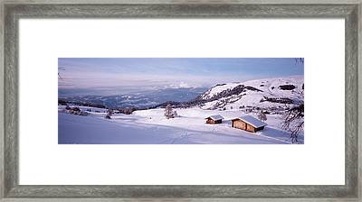 Italy, Italian Alps, High Angle View Framed Print by Panoramic Images