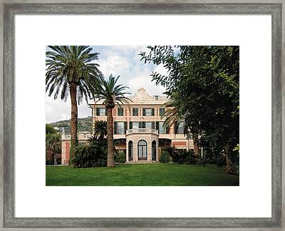 Italy, Liguria, Genoa, Nervi, Villa Framed Print by Everett