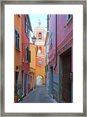 Italy Liguria La Spezia - Village La Framed Print by Panoramic Images