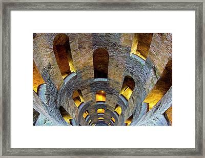 Italy, Orvieto St Patrick's Well Credit Framed Print