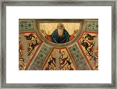 Italy, Parma Details Of Frescoed Framed Print