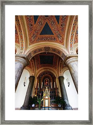 Italy, Pienza, Cathedral Of Santa Maria Framed Print