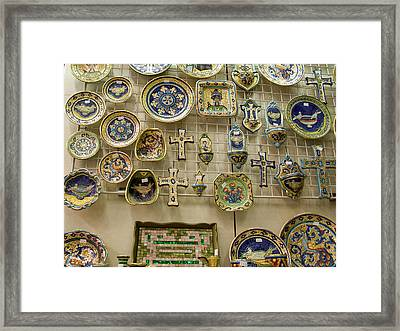 Italy, Ravenna A Wall Of Mosaic Framed Print