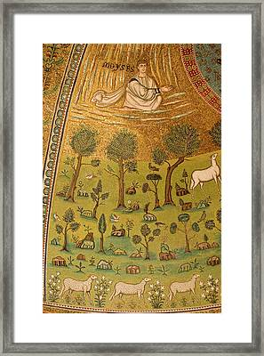 Italy, Ravenna Mosaic Depicting Moses Framed Print