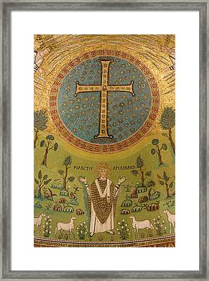 Italy, Ravenna Mosaic Depicting St Framed Print