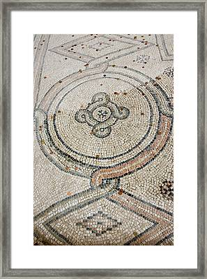Italy, Ravenna Mosaic Floor With Coin Framed Print
