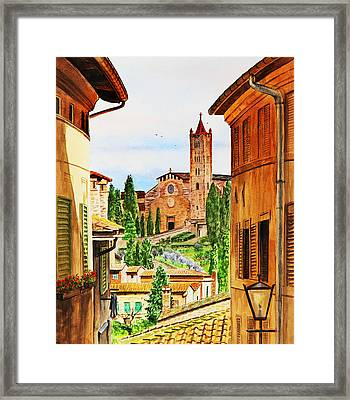 Italy Siena Framed Print by Irina Sztukowski