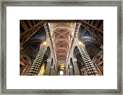 Italy, Sienna Interior Of Sienna Framed Print
