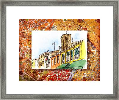 Italy Sketches Venice Via Nuova Framed Print