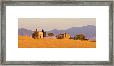 Italy, Tuscany Little Chapel At Sunset Framed Print by Jaynes Gallery