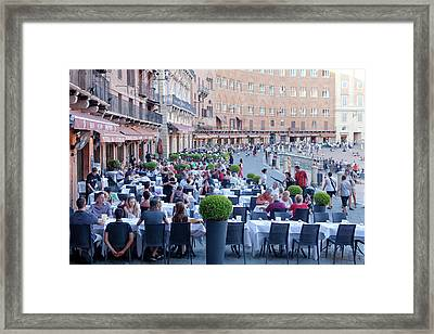 Italy, Tuscany, Piazza Del Campo - Framed Print by Panoramic Images