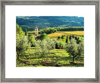 Italy, Tuscany, Pieve Di Santa Maria Framed Print