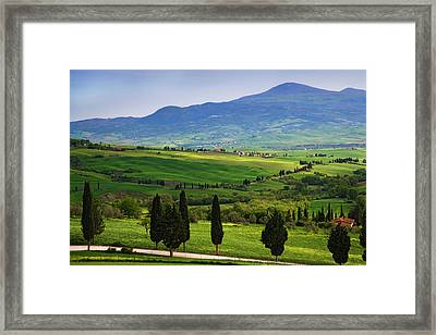 Italy, Tuscany Scenic Of The Tuscan Framed Print by Jaynes Gallery