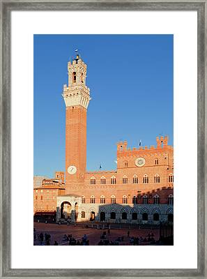 Italy, Tuscany, Sienna - Piazza Del Framed Print by Panoramic Images