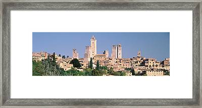 Italy, Tuscany, Towers Of San Framed Print by Panoramic Images