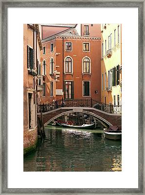 Italy, Venice A Small Bridge Framed Print