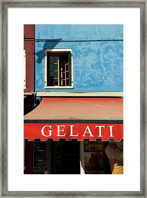Italy, Venice, Burano Framed Print by David Noyes