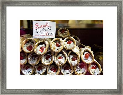 Italy, Venice Cannoli For Sale Seen Framed Print by Jaynes Gallery