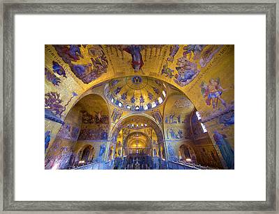 Italy, Venice Interior Of St Marks Framed Print
