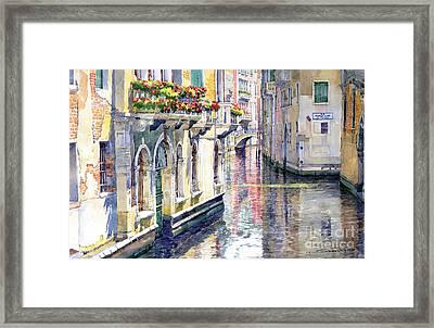 Italy Venice Midday Framed Print by Yuriy Shevchuk