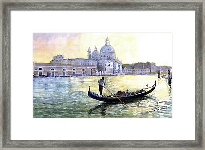 Italy Venice Morning Framed Print by Yuriy Shevchuk