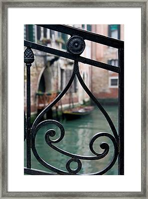 Italy, Venice Stair Railing Metalwork Framed Print by Jaynes Gallery