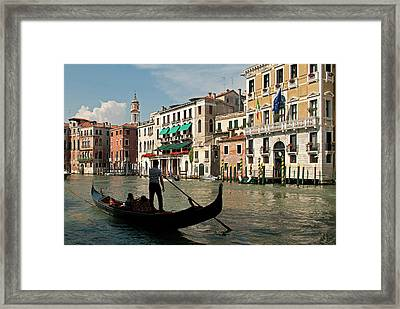 Italy, Venice Tourists Ride Framed Print