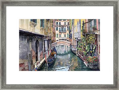 Italy Venice Trattoria Sempione Framed Print by Yuriy Shevchuk