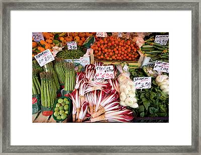 Italy, Venice Vegetables For Sale Framed Print by Jaynes Gallery