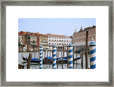 Italy, Venice View Of The Grand Canal Framed Print