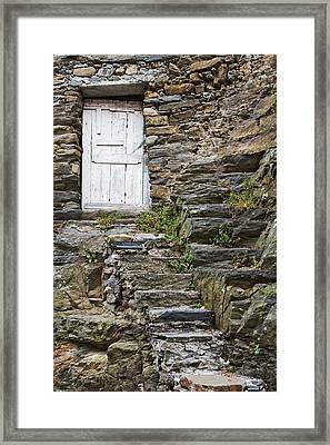 Italy, Vernazza Rock Steps Lead To An Framed Print by Jaynes Gallery
