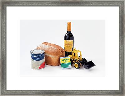 Items Containing Organic Compounds Framed Print by Trevor Clifford Photography