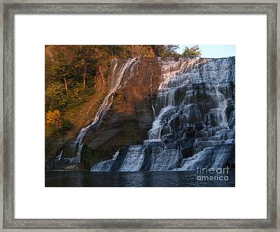 Ithaca Falls  --  Late Afternoon Framed Print by Anna Lisa Yoder