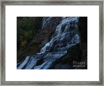 Ithaca Falls At Dusk Framed Print by Anna Lisa Yoder