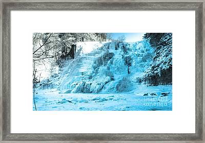 Ithaca Falls In Winter Framed Print