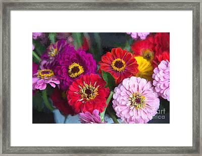 Farmer's Market Flowers II Framed Print