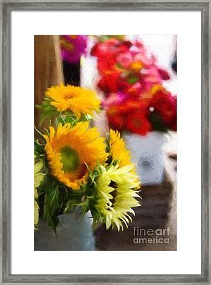Farmer's Market Flowers Framed Print
