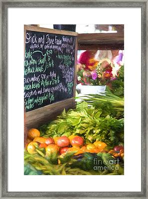 Farmer's Market Produce Stall II Framed Print