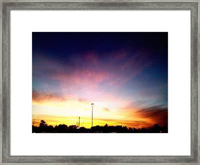 Ithaca New York  Sunset Framed Print by Jo-Ann Hayden