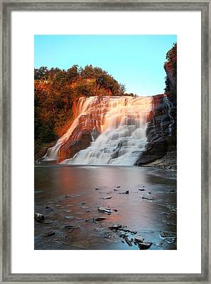 Ithaca Waterfalls New York Framed Print by Paul Ge