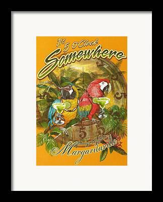 Margaritaville Framed Prints