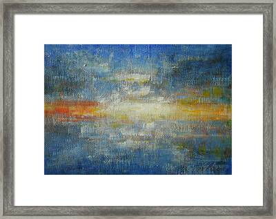 It's A Beautiful Day - Sapphire Framed Print by Jane See