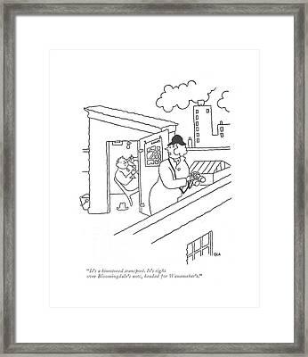It's A Bimotored Transport. It's Right Framed Print