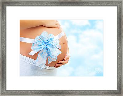 It's A Boy Framed Print