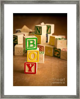 Its A Boy Framed Print by Edward Fielding