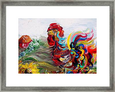 It's A Cockadoodle Do Morning Framed Print