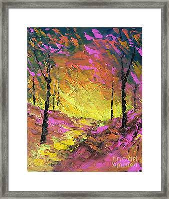 Its A Colorful Life Framed Print