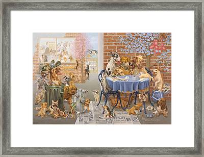 It's A Dog's World Framed Print by Victor Powell