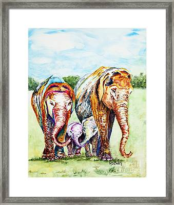 It's A Family Affair Framed Print by Maria Barry