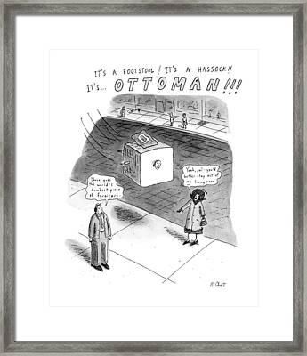 It's A Footstool! It's A Hassock!! It's Framed Print